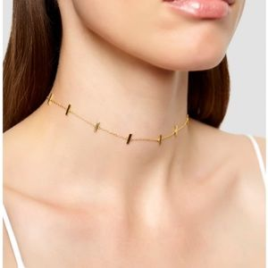 Argento Vivo Gold bar choker